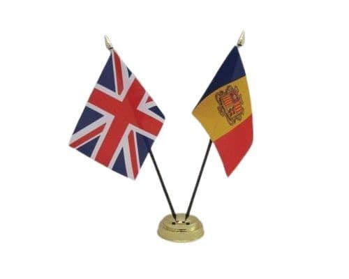 Andorra with UK Friendship Table Flag